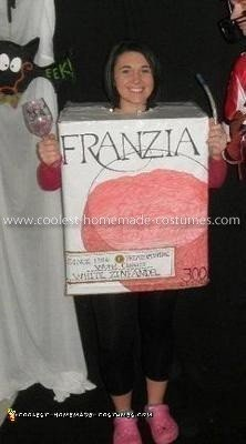 Homemade Boxed Wine Costume