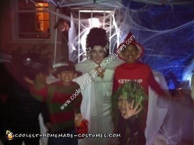 Bride of Frankenstein DIY Halloween Costume