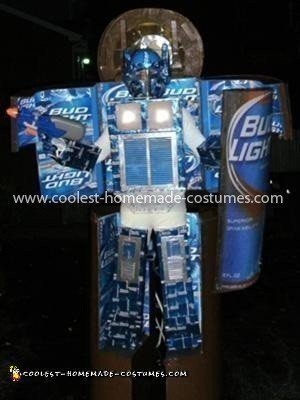 Coolest Bud Light Bottle Transformer Costume