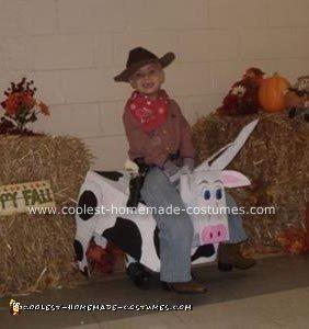 Homemade Bull Rider Cowboy Costume