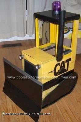 Homemade Bulldozer Costume