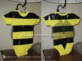 Homemade Bumble Bee Baby Costume