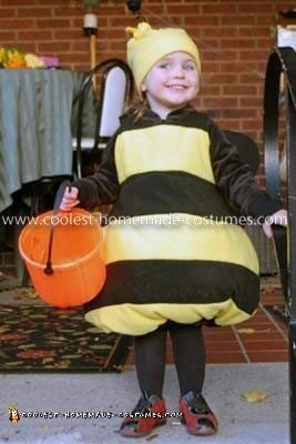 Homemade Bumble Bee Girl's Costume