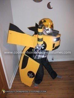 Homemade Bumblebee Transformer Costume