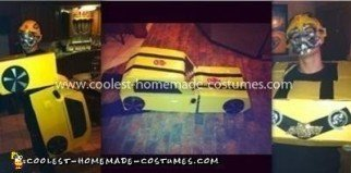 Coolest Bumblebee Transformer Costume - boyfriend wearing it...