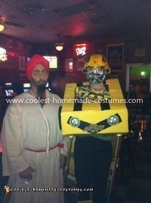 Coolest Bumblebee Transformer Costume - my mom and I