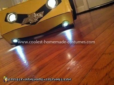 Coolest Bumblebee Transformer Costume - headlights