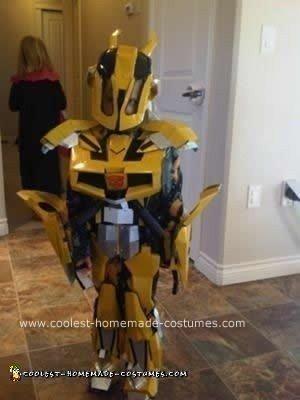 Homemade BumbleBee Transformers Costume