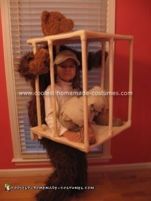 Caged Zoo Keeper Homemade Costume