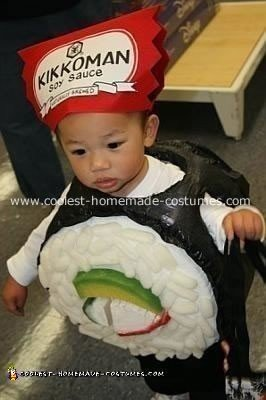 Homemade California Roll Sushi Boy Costume