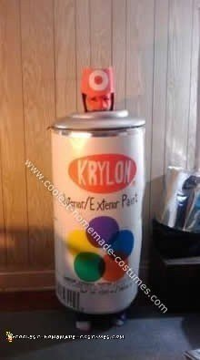 Homemade Can of Krylon Spray Paint Costume