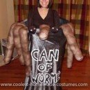 Homemade Can of Worms Costume