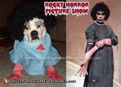 Homemade Canine Dr Frank-N-Furter Costume