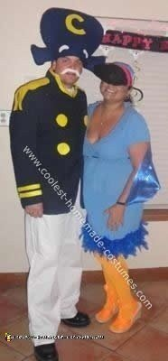 Homemade Captain Crunch and Toucan Sam Couple Costume