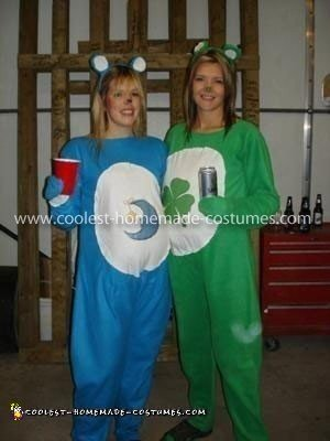 Homemade Care Bears Couple Costume