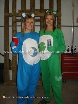 Homemade Care Bears Couple Costume