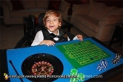 Casino Dealer Wheelchair Costume