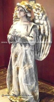 Homemade Cemetery Angel Human Statue Costume