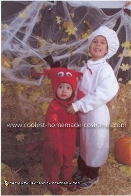 Homemade Chef and Lobster Childs Couple Costume