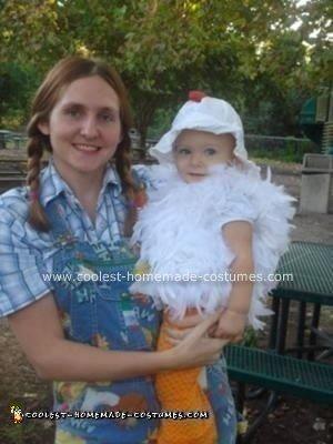 Homemade Chicken Toddler Costume