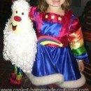 Homemade Child Rainbow Brite Costume