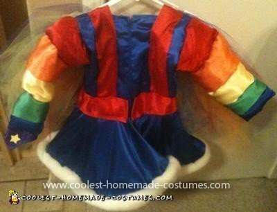 Homemade Child Rainbow Brite Costume