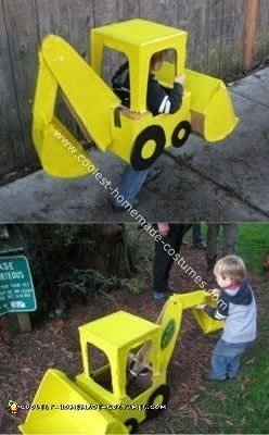Homemade Child's Backhoe Costume