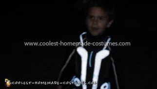 Homemade Child's Tron Legacy Costume