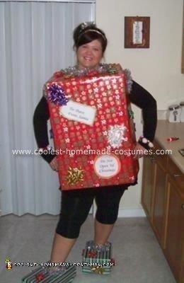 Homemade Christmas Present Costume 2