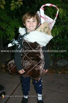 Homemade Christmas Stocking Costume