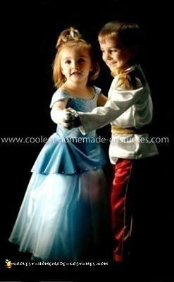 Homemade Cinderella and Prince Charming Couple Costume