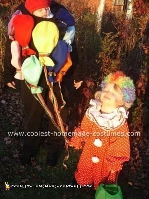 Homemade Clown with Balloons Costume