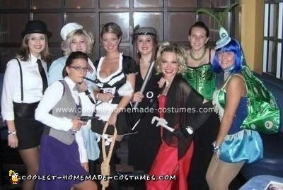 Homemade Clue Characters Group Costume