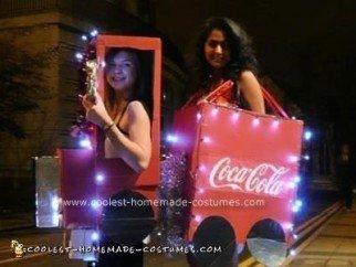 Homemade Coca Cola Christmas Truck Couple Costume