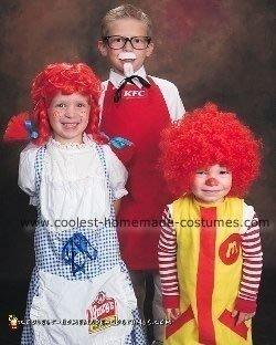 Colonel Sanders, Wendy and Ronald Mcdonald Halloween Costumes
