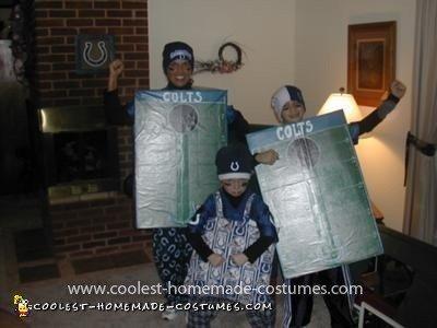 Homemade Colts Corn Hole Costume