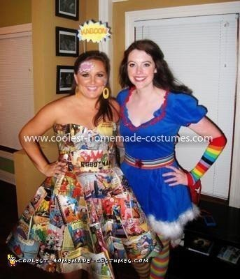 Coolest Comic Girl Costume - Comic Girl and Rainbow Brite
