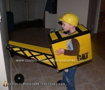 Homemade Construction Crane Costume