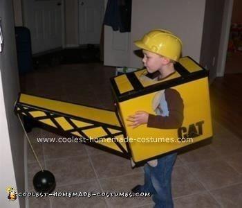 Homemade Construction Crane Costume