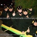 Homemade Cool Runnings Jamaican Bobsled Team Group Costume