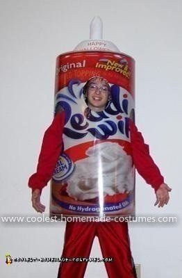 Homemade Cool Whip Costume