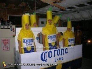 Homemade  Corona 6-Pack Group Costume