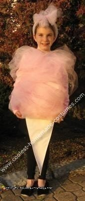 Homemade Cotton Candy Halloween Costume