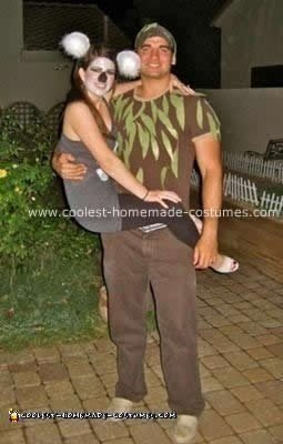 Homemade Couple Koala and Tree Costume