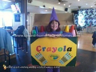 Homemade Crayola Costume