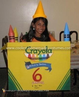 Coolest Crayola Crayon Box Costume - Front of the Crayola Box