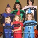 Homemade Crayola Crayons Halloween Costumes