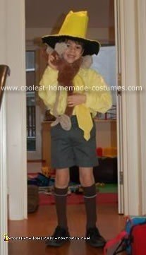 Homemade Curious George's Man with the Yellow Hat Costume