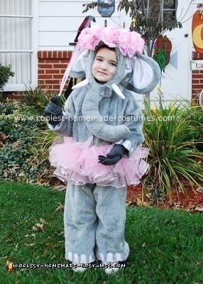 Homemade Dancing Ballerina Elephant Costume