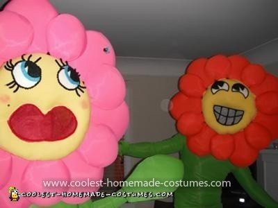 Homemade Dancing Flowers Couple Costume